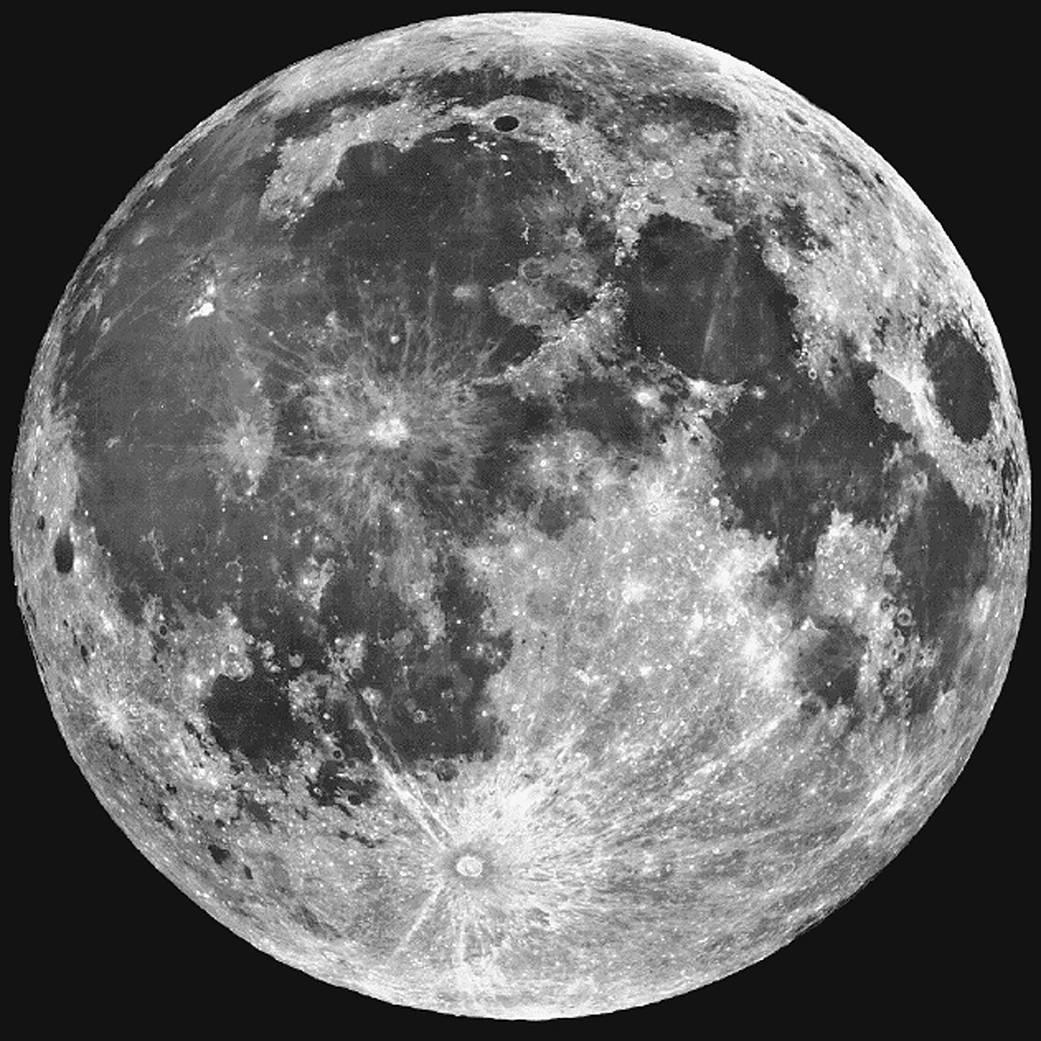 The Moon. Credit: Lick Observatory/ESA/Hubble
