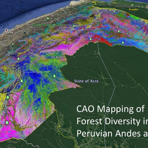 Andes Mountains Peru Map.High Tech Maps Of Tropical Forest Diversity Identify New
