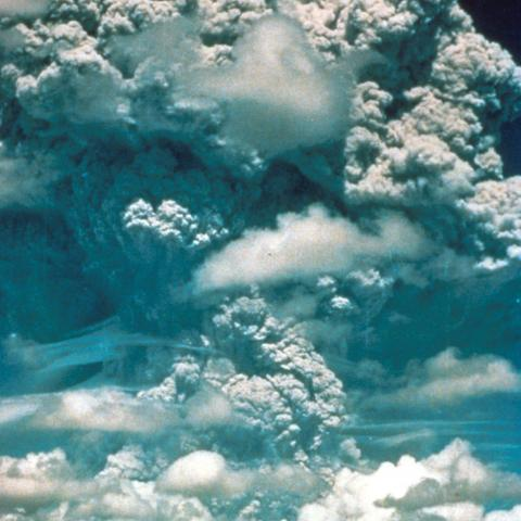 USGS photo of Mount Pinatubo erupting