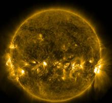 Solar image courtesy of NASA's Solar Dynamics Observatory.)
