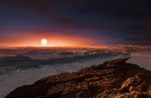 Artist's impression of the surface of the planet Proxima b courtesy of ESO/M. Kornmesser.