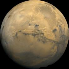 Mars mosaic courtesy of NASA