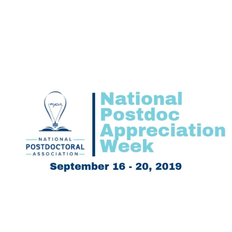 National Postdoc Appreciation Week logo