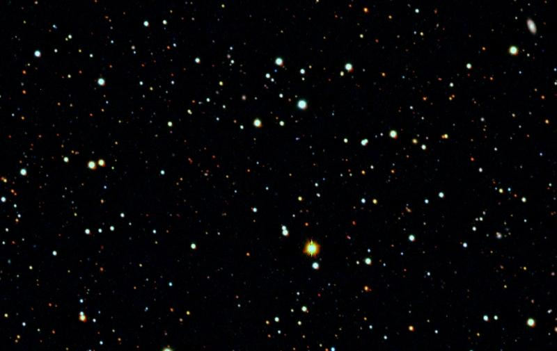Vicinity of Tucana II ultra-faint dwarf galaxy. Credit: Anirudh Chiti/MIT.