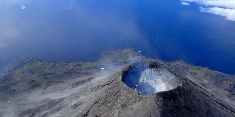 Photo is by Cindy Werner, courtesy of Alaska Volcano Observatory.