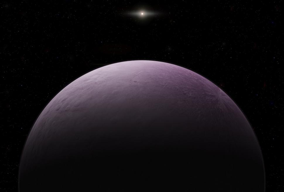 "Artist concept of 2018 VG18, nicknamed ""Farout."" Illustration by Roberto Molar Candanosa is courtesy of the Carnegie Institution for Science."