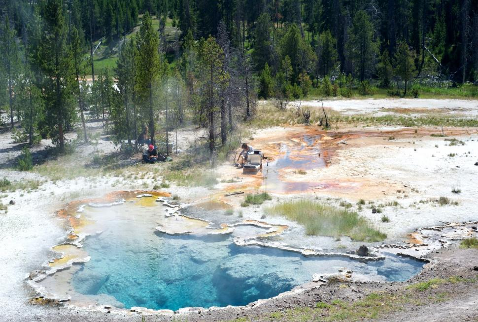 Octopus Spring in Yellowstone National Park courtesy of Devaki Bhaya