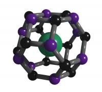 Carbon-boron clathrate cage with strontium inside, courtesy Tim Strobel