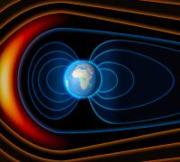 Earth's magnetic field shields it from ionizing particles